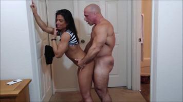 Follando con su compañera de gimnasio