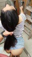 Follando colombiana de larga cabellera